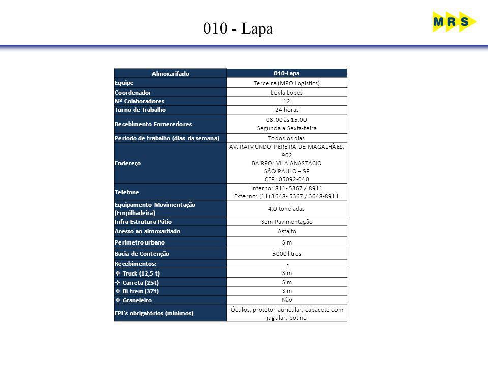 010 - Lapa Almoxarifado 010-Lapa Equipe Terceira (MRO Logistics)