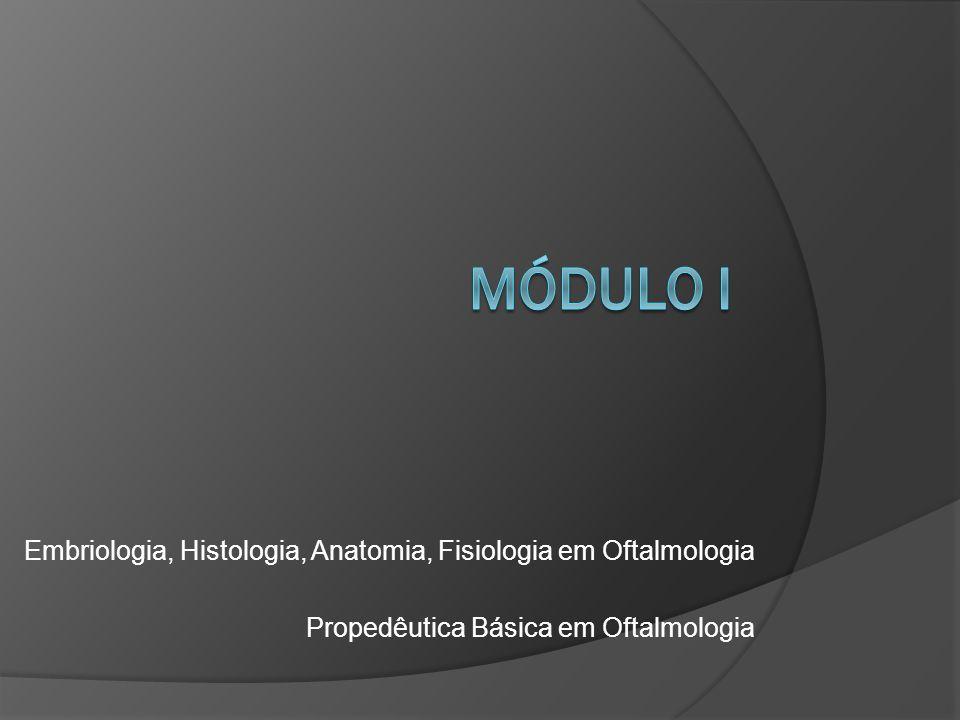 MÓDULO i Embriologia, Histologia, Anatomia, Fisiologia em Oftalmologia
