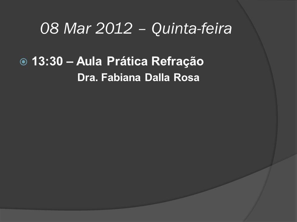 08 Mar 2012 – Quinta-feira 13:30 – Aula Prática Refração