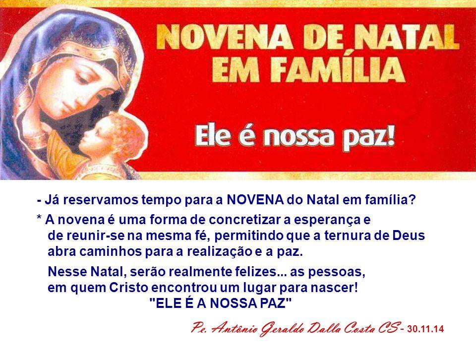 Pe. Antônio Geraldo Dalla Costa CS - 30.11.14