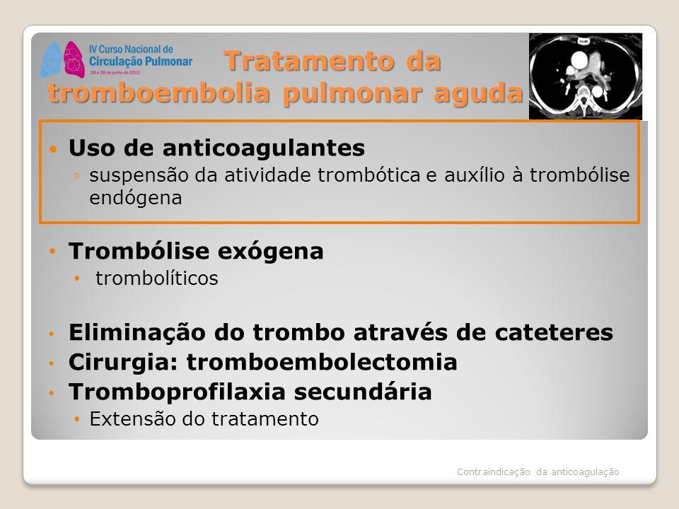 Tratamento da tromboembolia pulmonar aguda