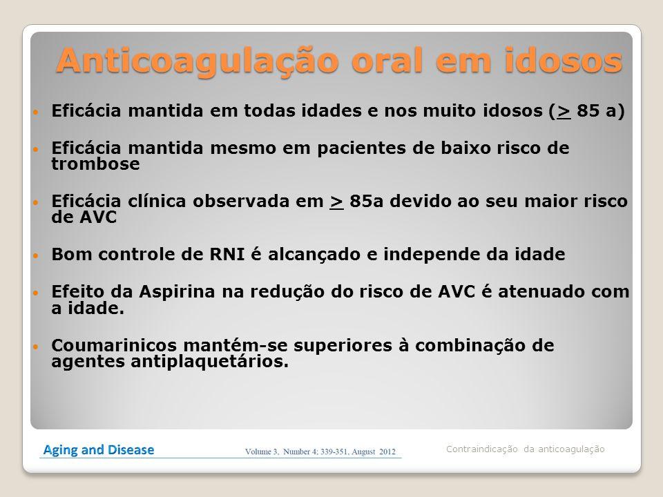 Anticoagulação oral em idosos