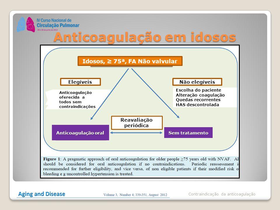 Anticoagulação em idosos