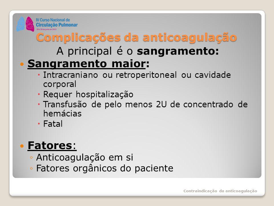 Complicações da anticoagulação