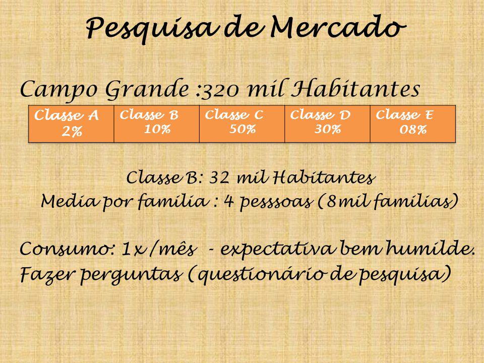 Pesquisa de Mercado Campo Grande :320 mil Habitantes