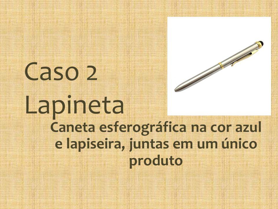 Caso 2 Lapineta Caneta esferográfica na cor azul e lapiseira, juntas em um único produto