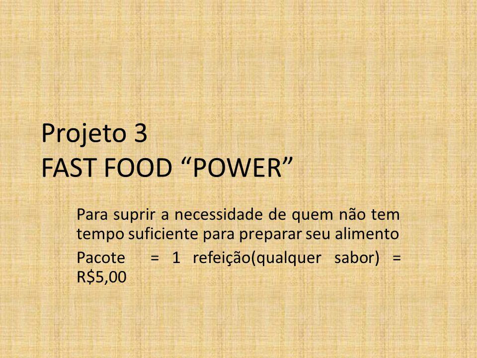 Projeto 3 FAST FOOD POWER