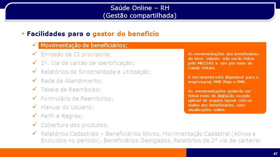 Saúde Online – RH (Gestão compartilhada)