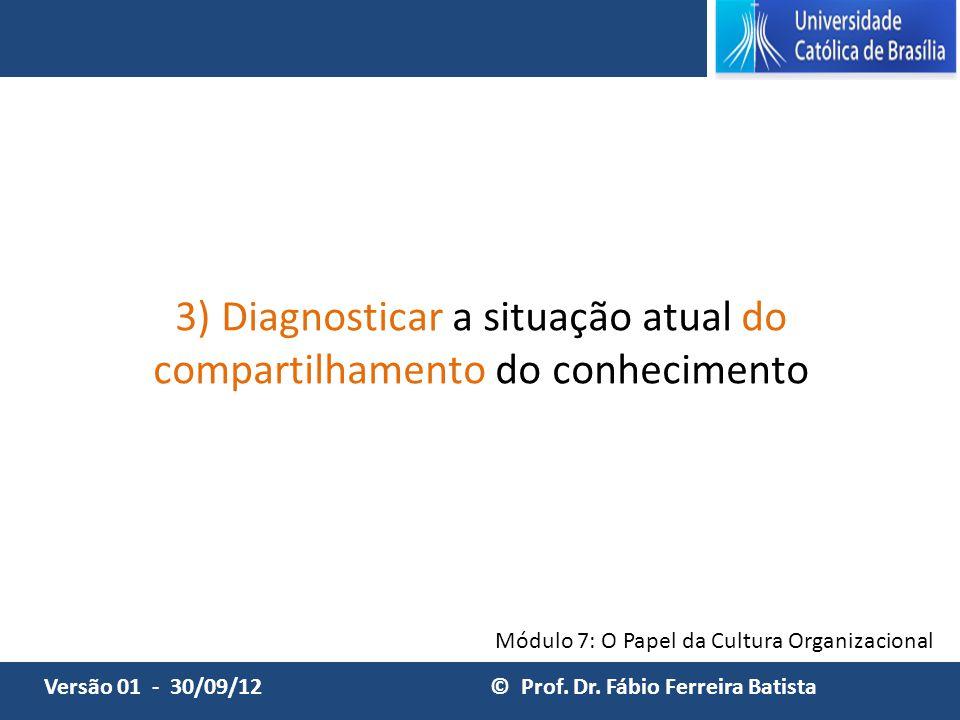 3) Diagnosticar a situação atual do compartilhamento do conhecimento