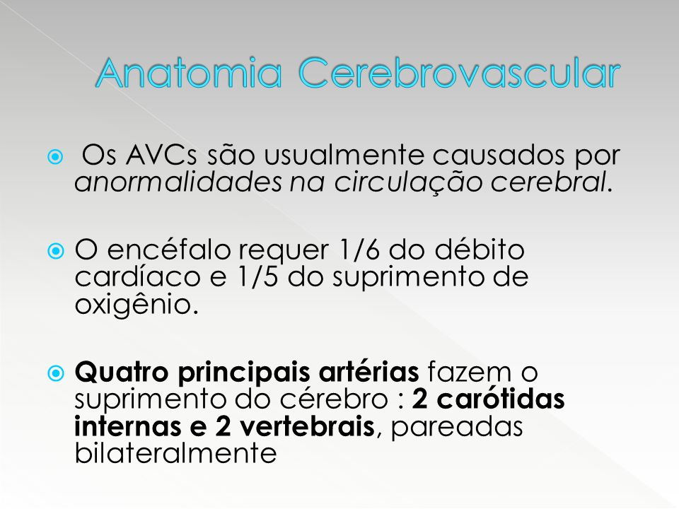 Anatomia Cerebrovascular