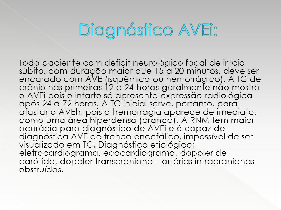 Diagnóstico AVEi: