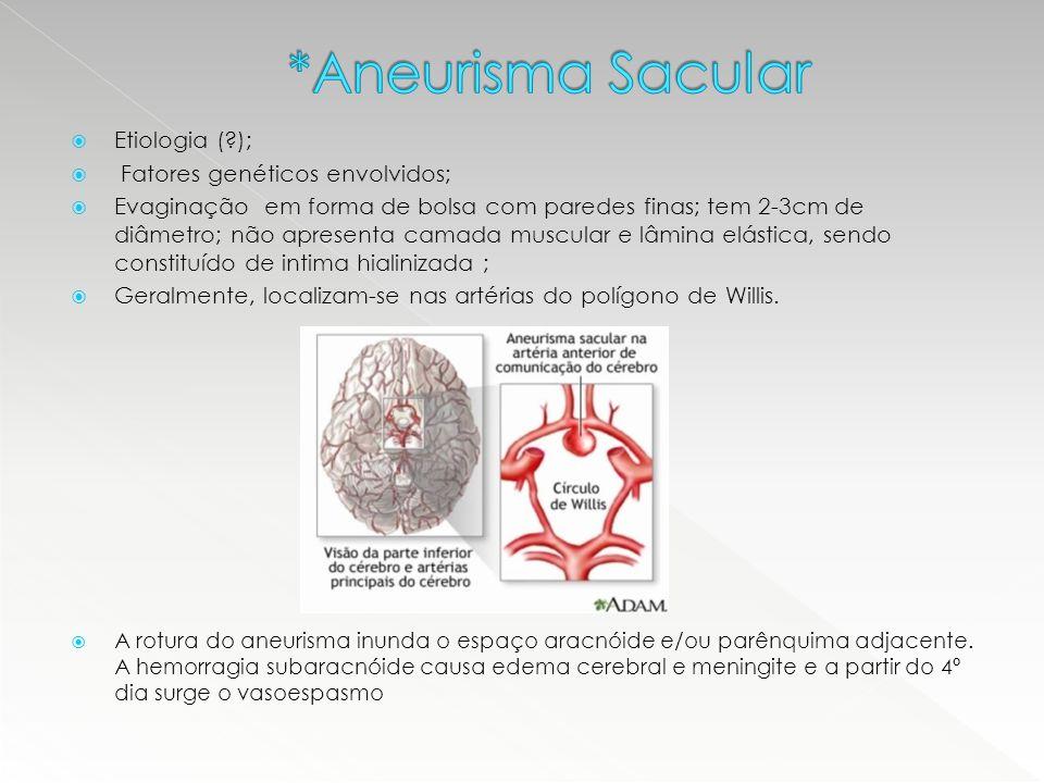 *Aneurisma Sacular Etiologia ( ); Fatores genéticos envolvidos;