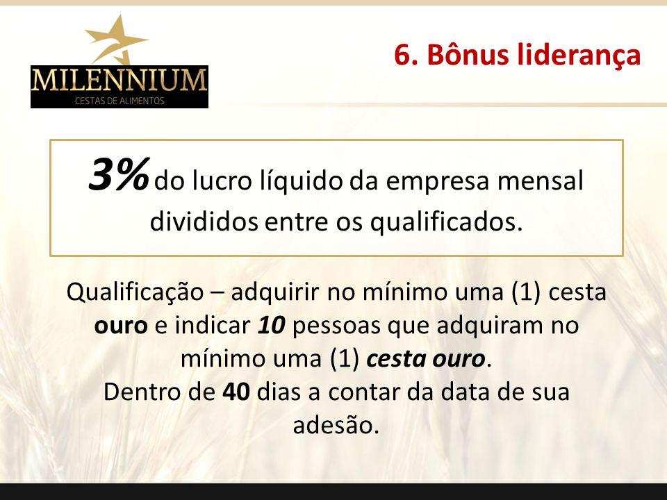 3% do lucro líquido da empresa mensal divididos entre os qualificados.