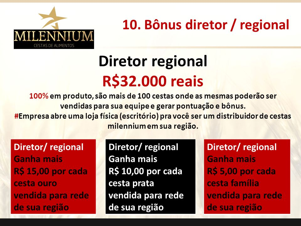 Diretor regional R$32.000 reais