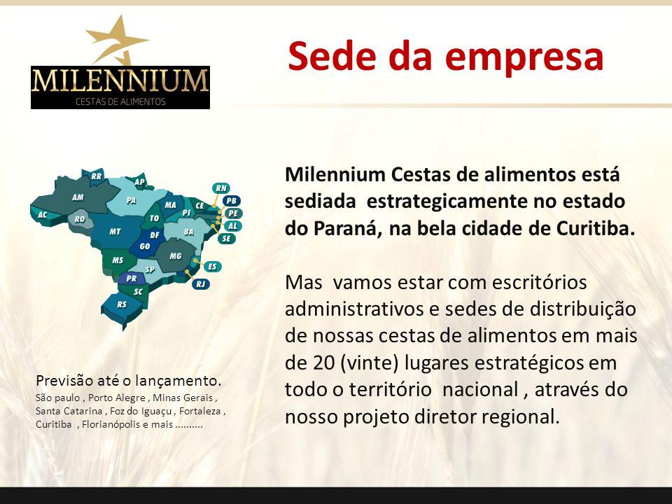 Sede da empresa . Milennium Cestas de alimentos está sediada estrategicamente no estado do Paraná, na bela cidade de Curitiba.
