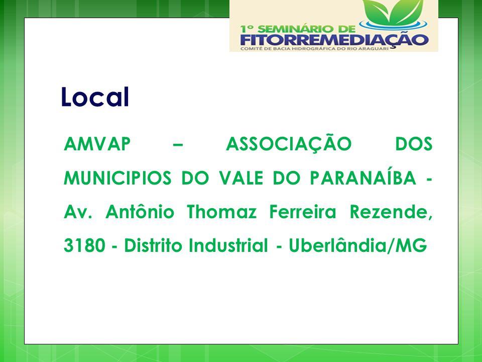 Local AMVAP – ASSOCIAÇÃO DOS MUNICIPIOS DO VALE DO PARANAÍBA - Av.