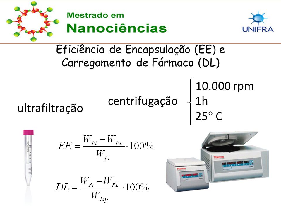 10.000 rpm centrifugação 1h 25° C ultrafiltração