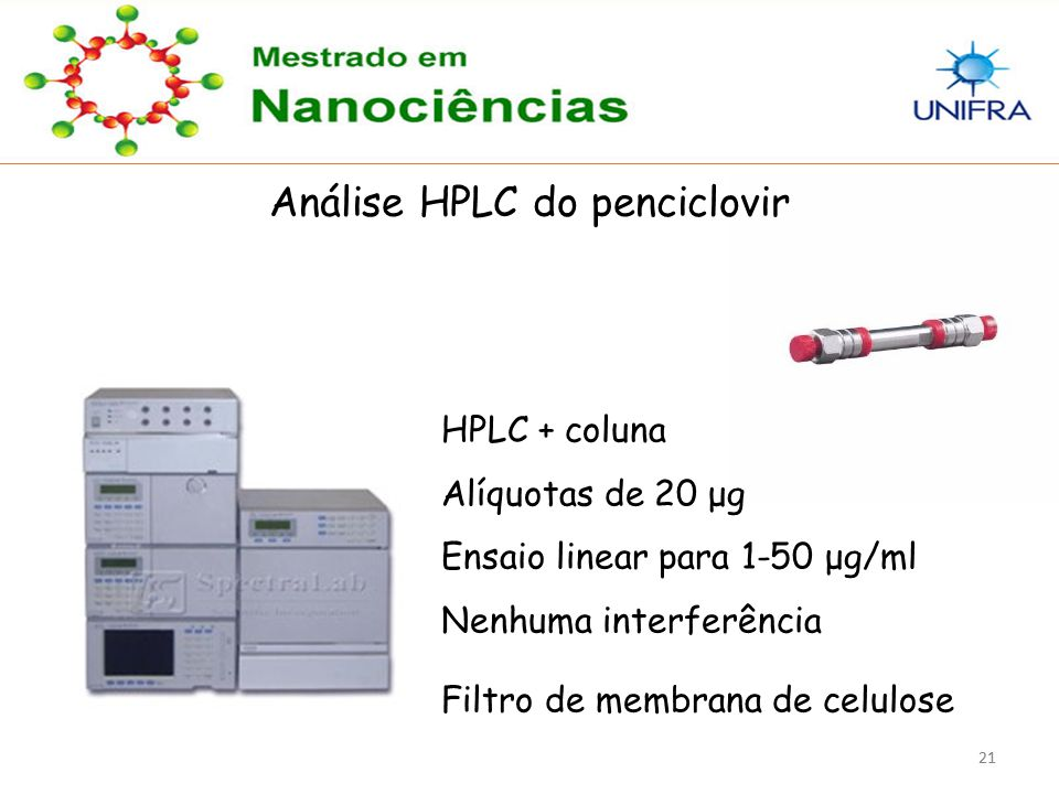 Análise HPLC do penciclovir