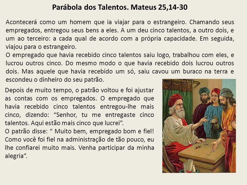 Parábola dos Talentos. Mateus 25,14-30