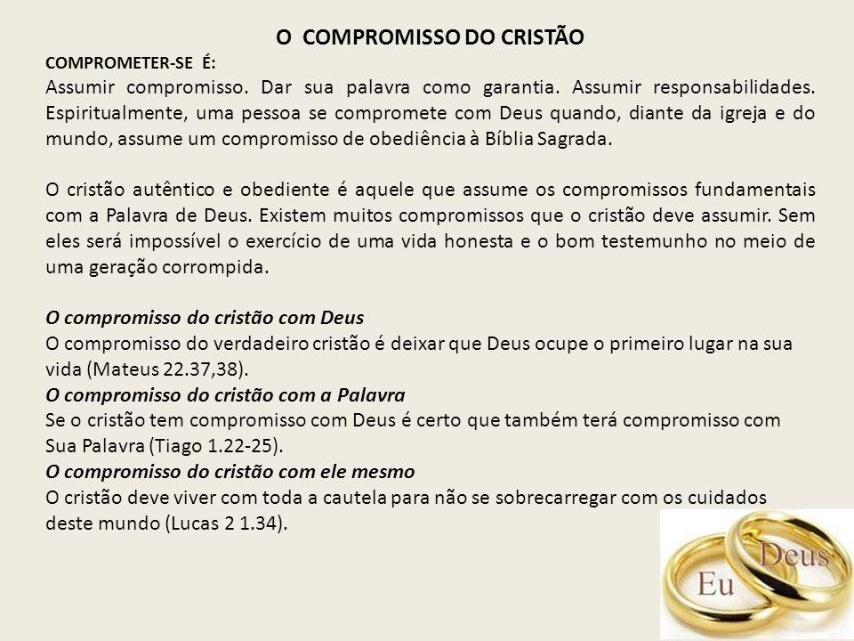 O COMPROMISSO DO CRISTÃO