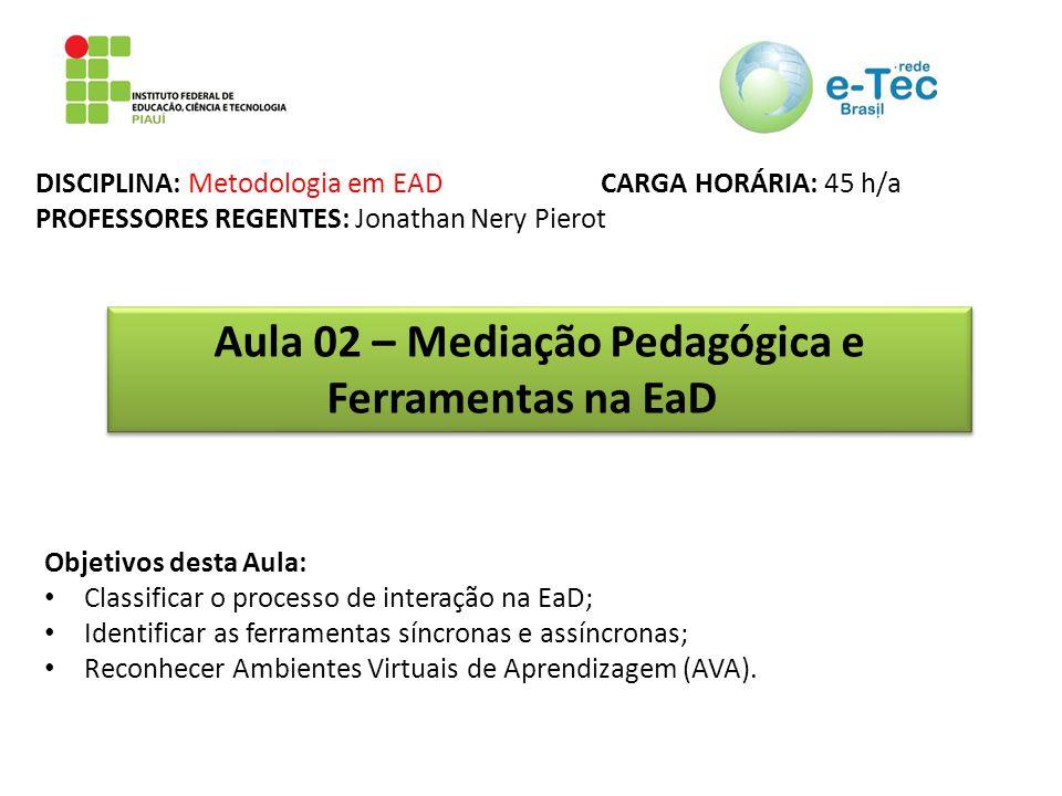 Aula 02 – Mediação Pedagógica e Ferramentas na EaD