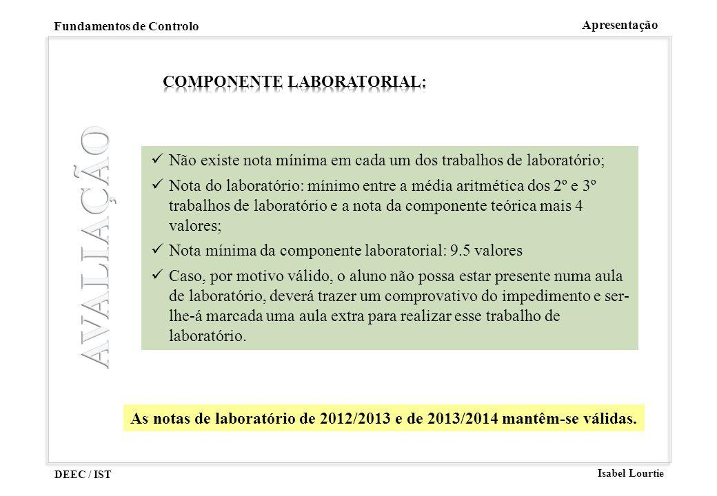 AVALIAÇÃO Componente Laboratorial: