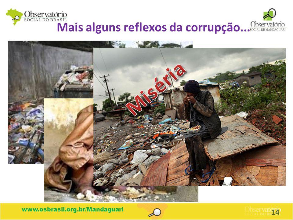 Mais alguns reflexos da corrupção...