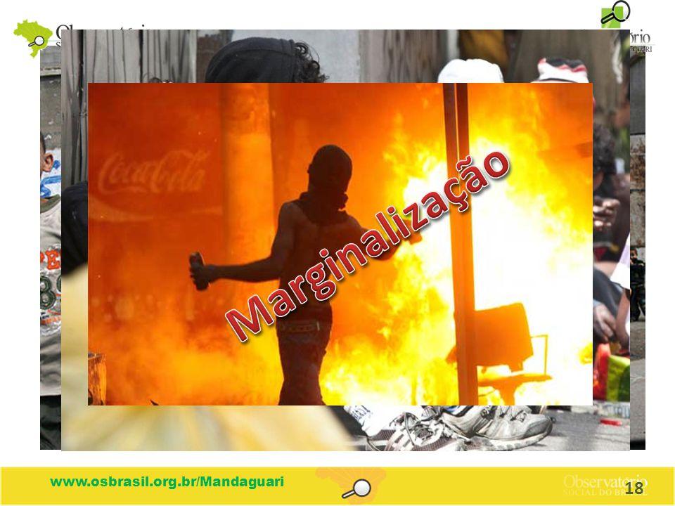 Marginalização www.osbrasil.org.br/Mandaguari 18