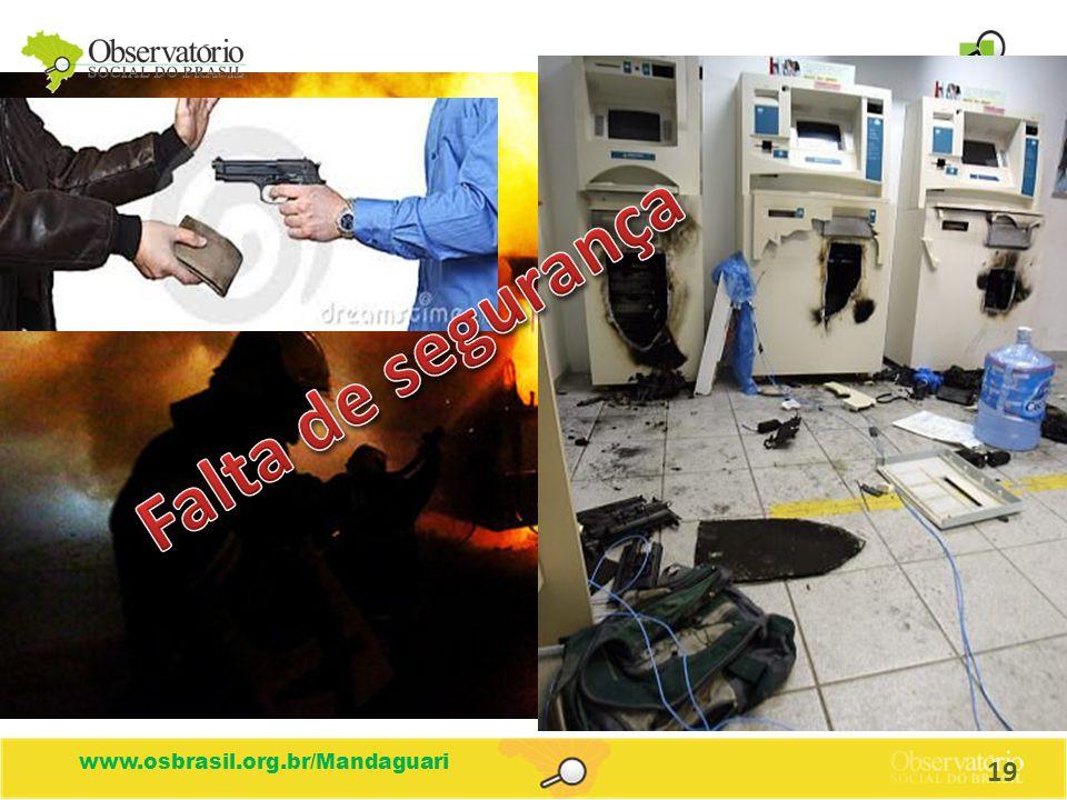 Falta de segurança www.osbrasil.org.br/Mandaguari 19
