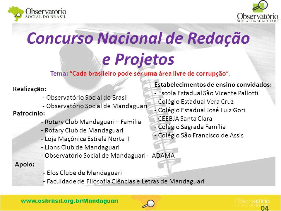 Concurso Nacional de Redação e Projetos