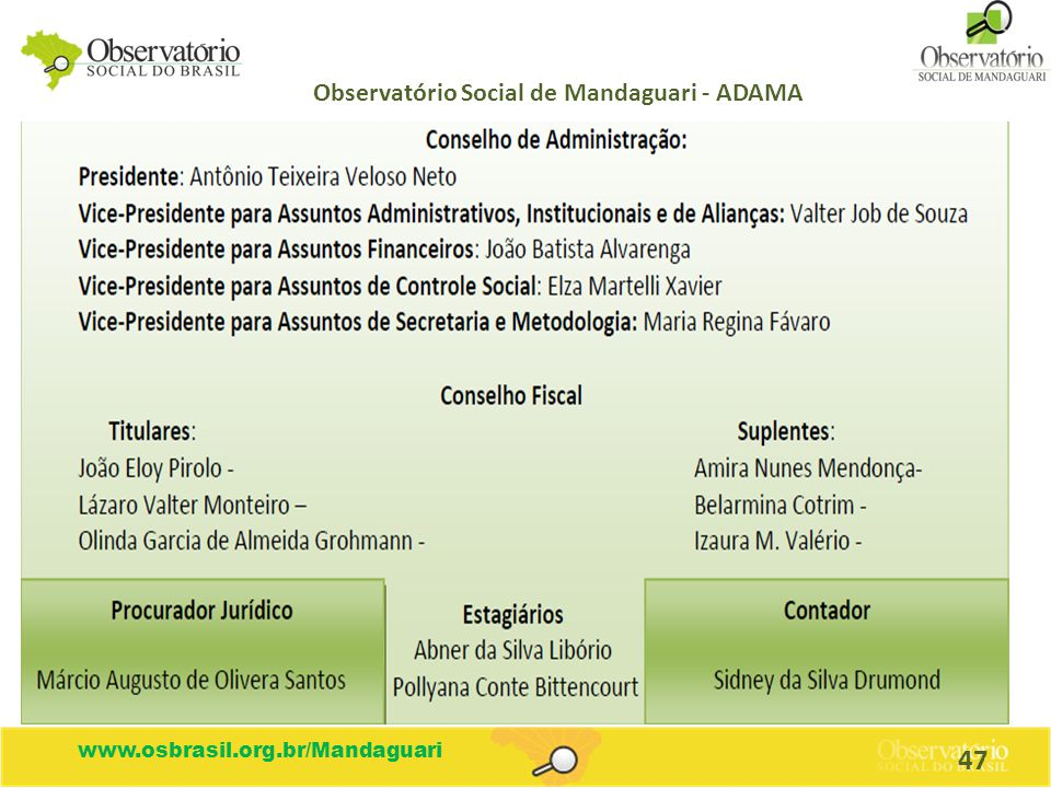 Observatório Social de Mandaguari - ADAMA
