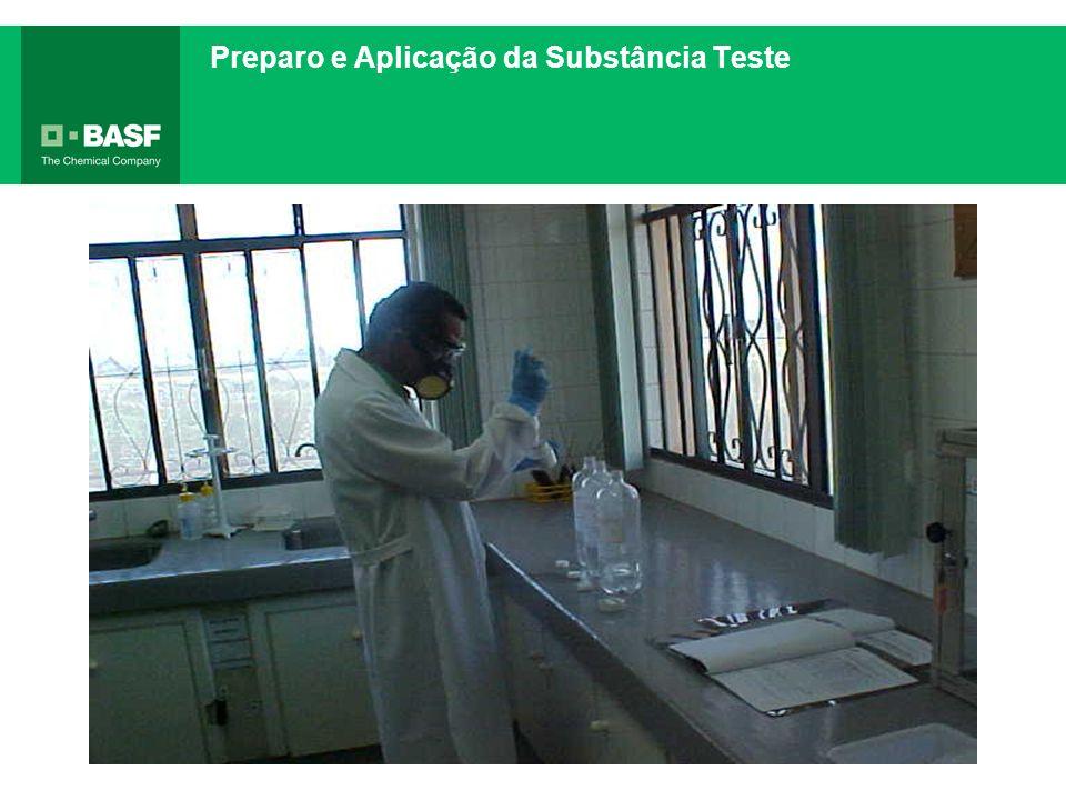 Preparo e Aplicação da Substância Teste