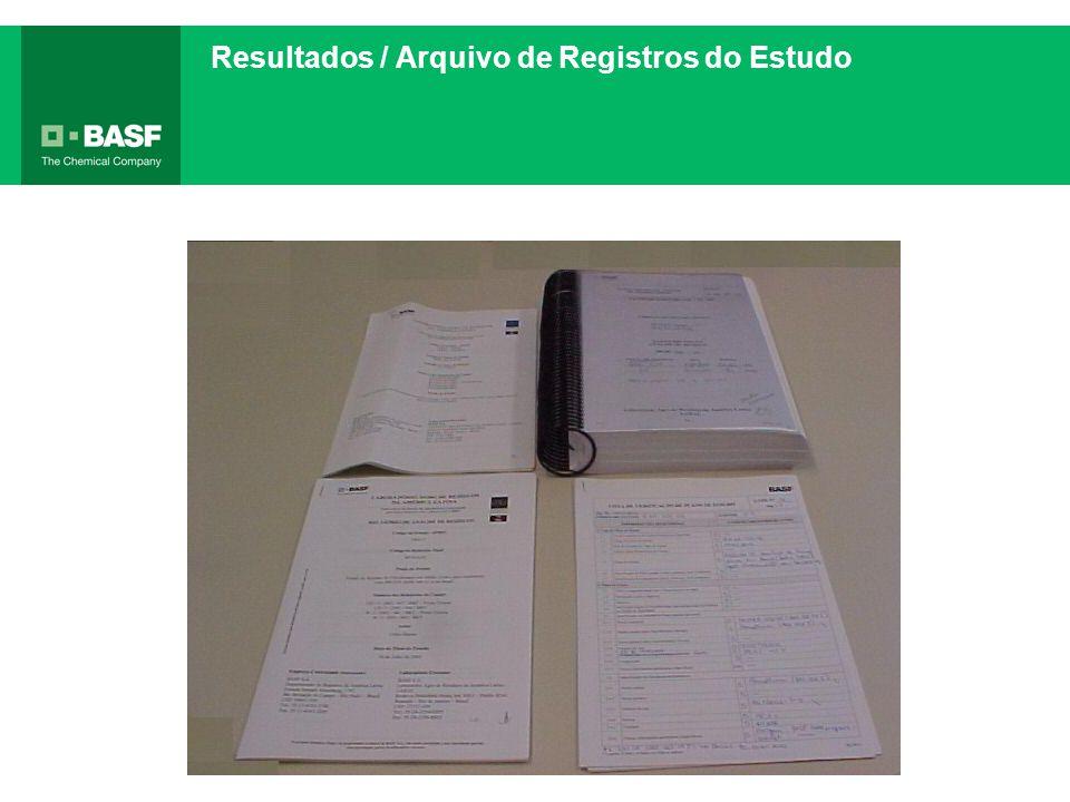 Resultados / Arquivo de Registros do Estudo