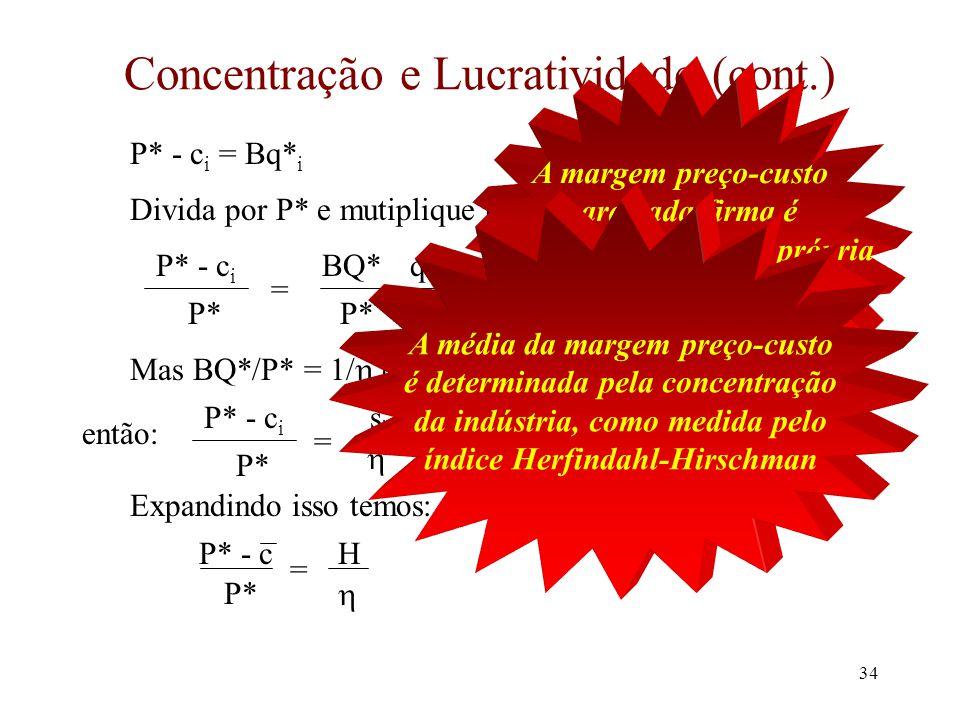 Concentração e Lucratividade (cont.)