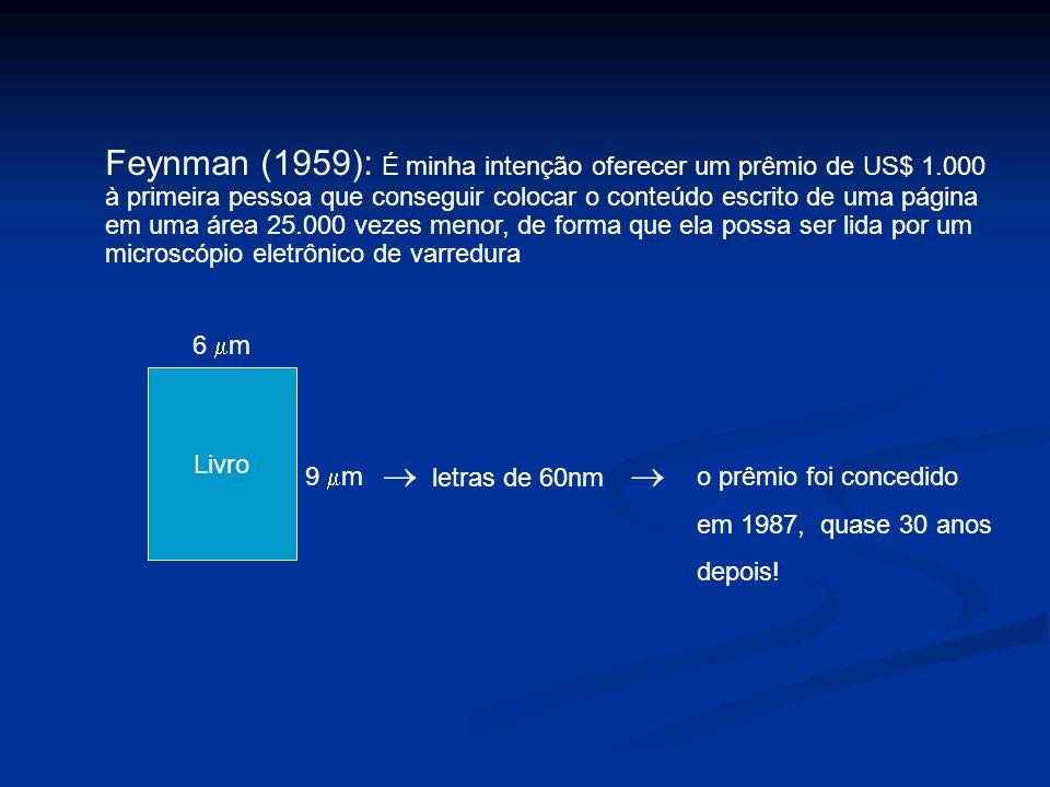 Feynman (1959): É minha intenção oferecer um prêmio de US$ 1