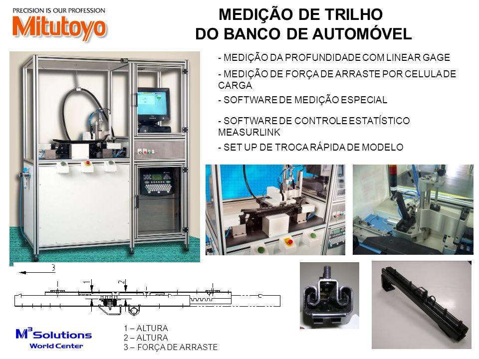 MEDIÇÃO DE TRILHO DO BANCO DE AUTOMÓVEL