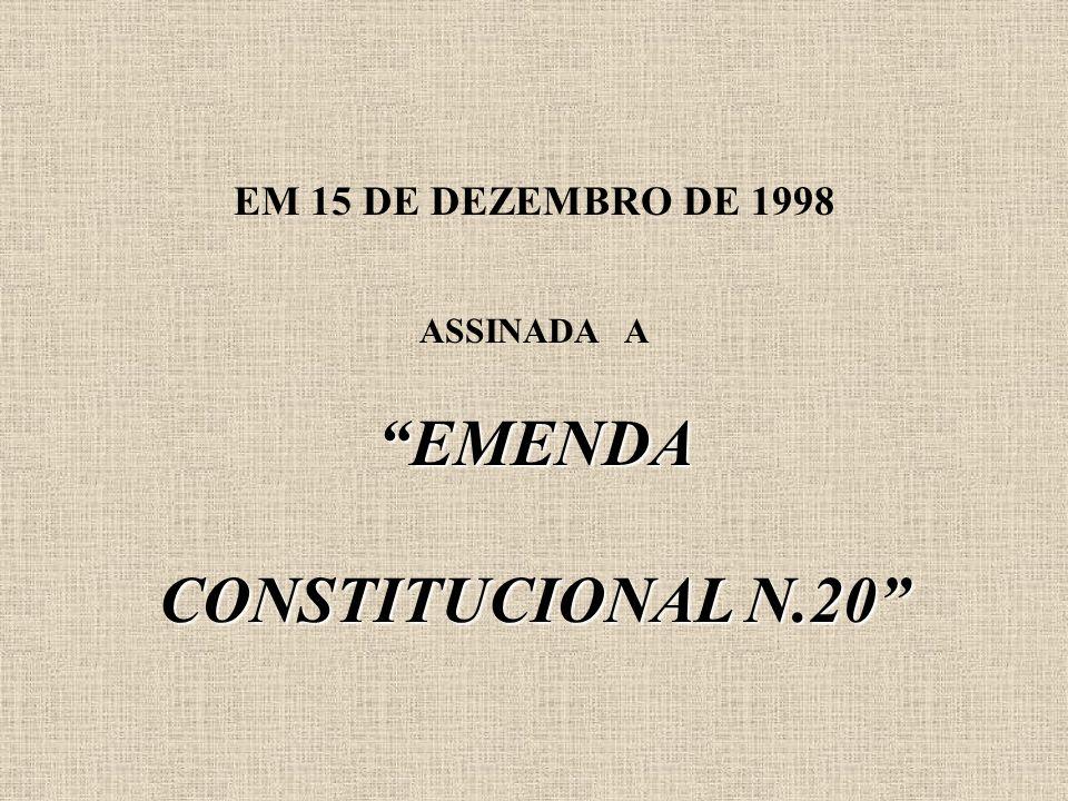 EM 15 DE DEZEMBRO DE 1998 ASSINADA A