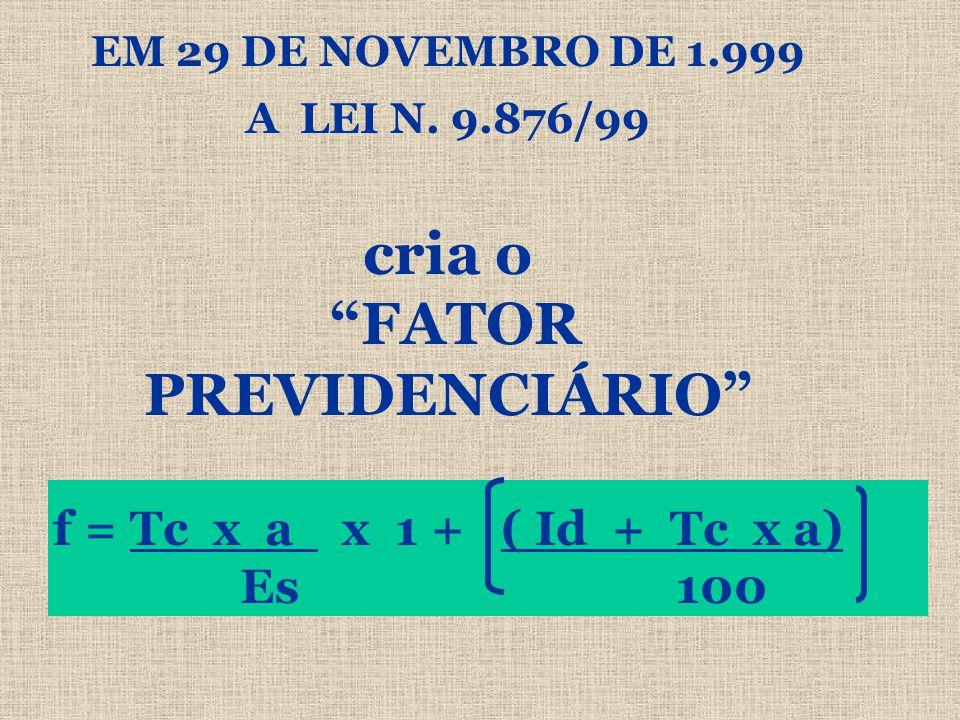 EM 29 DE NOVEMBRO DE 1.999 A LEI N.