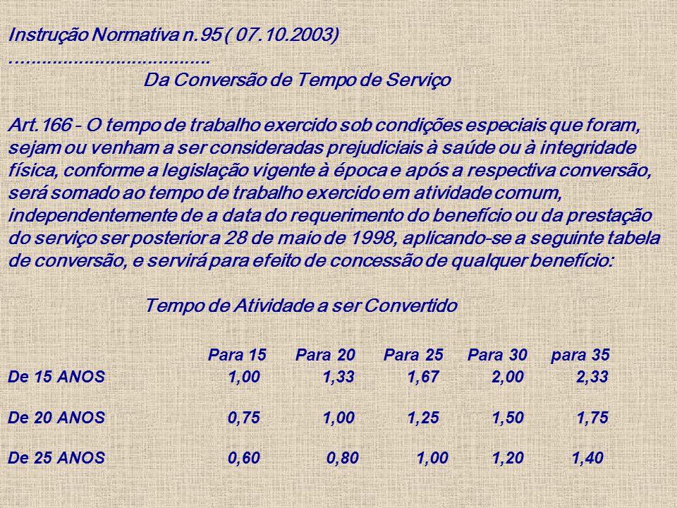 Instrução Normativa n. 95 ( 07. 10. 2003)