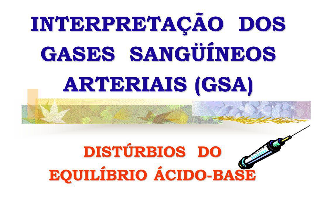 INTERPRETAÇÃO DOS GASES SANGÜÍNEOS ARTERIAIS (GSA)