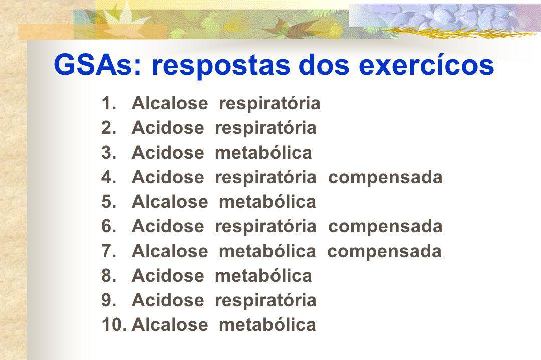 GSAs: respostas dos exercícos