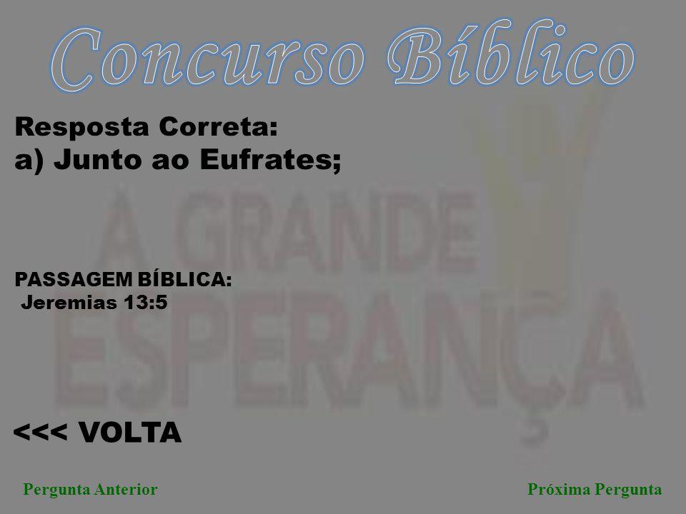Concurso Bíblico a) Junto ao Eufrates; <<< VOLTA