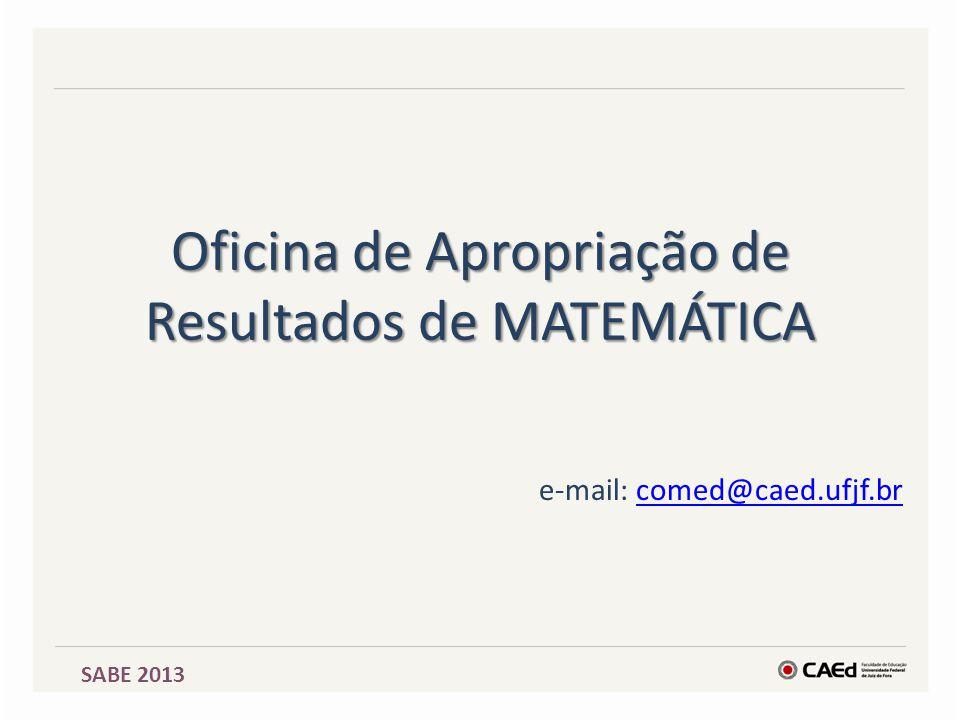 Oficina de Apropriação de Resultados de MATEMÁTICA