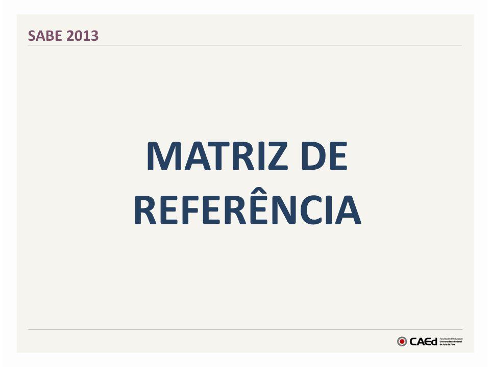 SABE 2013 Matriz de Referência