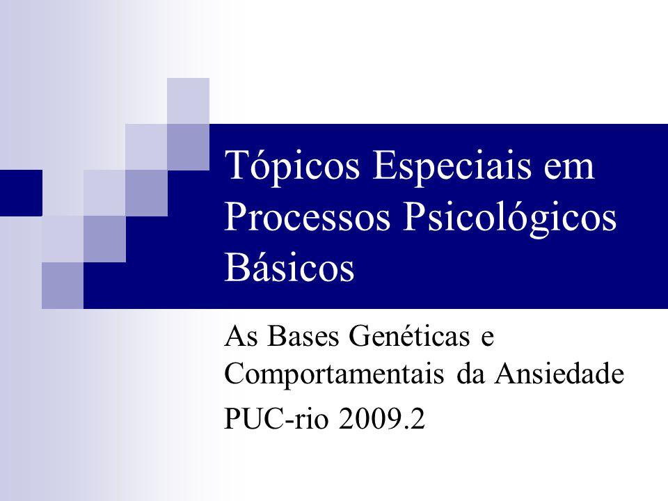 Tópicos Especiais em Processos Psicológicos Básicos