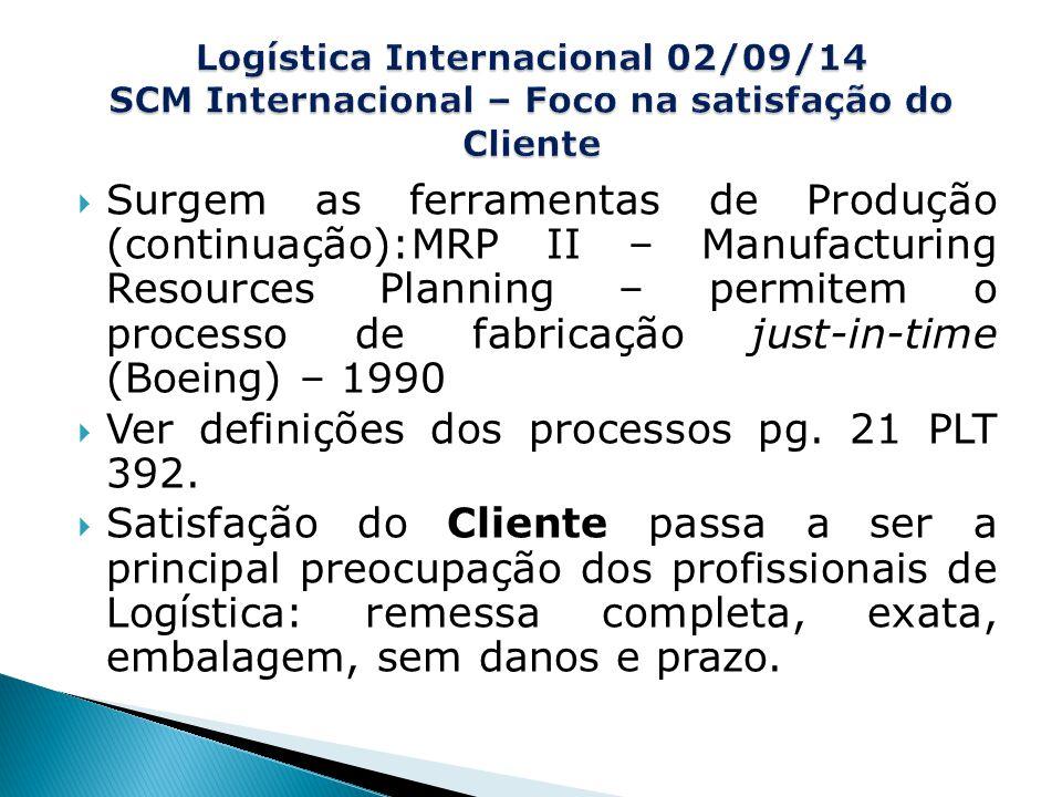 Ver definições dos processos pg. 21 PLT 392.