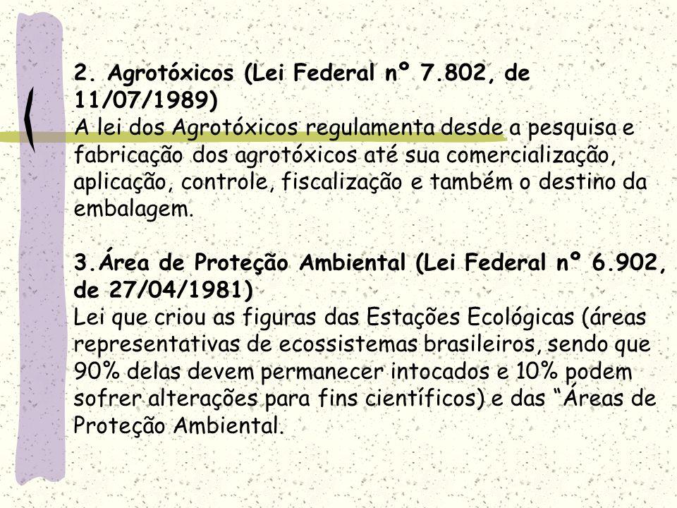 2. Agrotóxicos (Lei Federal nº 7