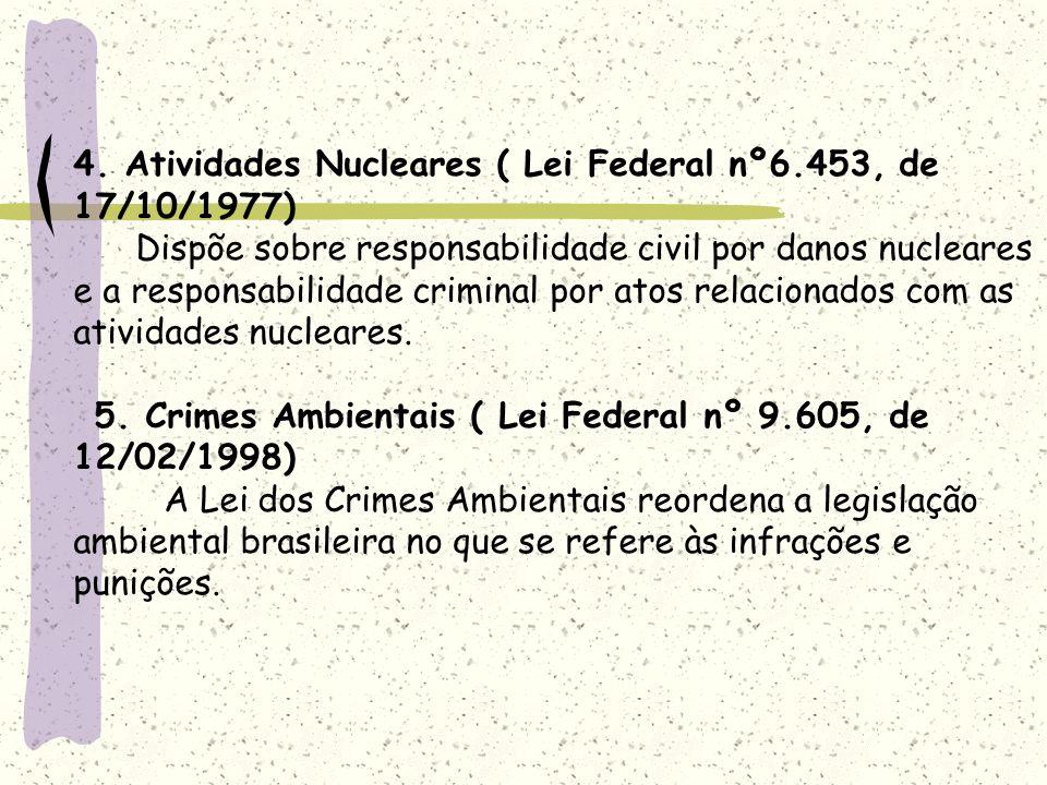 4. Atividades Nucleares ( Lei Federal nº6