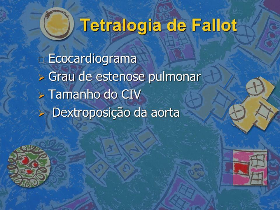 Tetralogia de Fallot Ecocardiograma Grau de estenose pulmonar