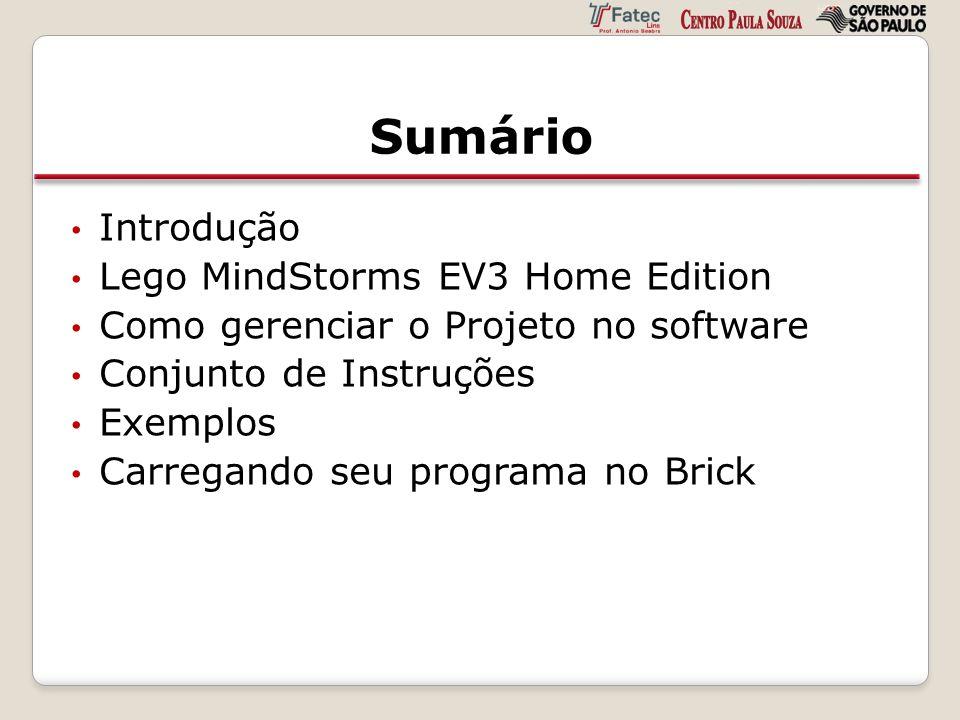Sumário Introdução Lego MindStorms EV3 Home Edition
